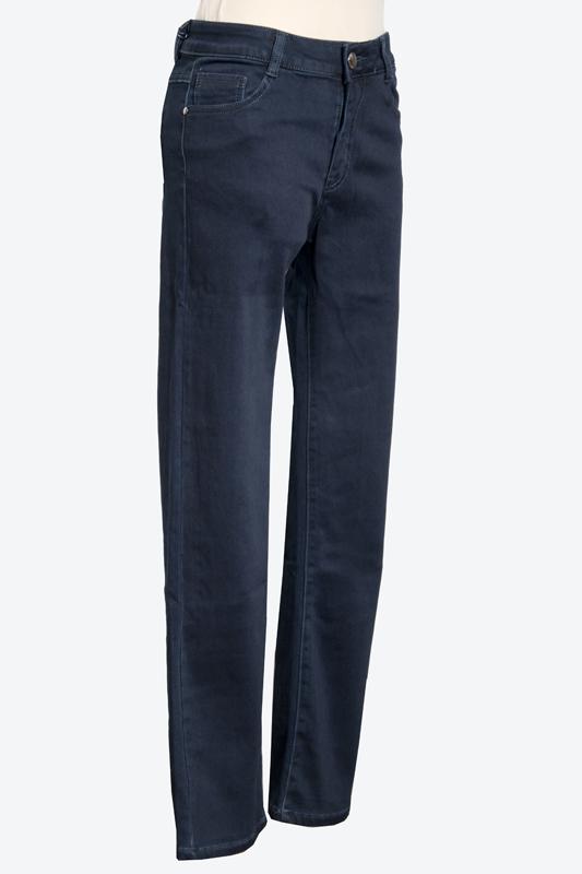 kék elasztikus bélelt gombos nadrág