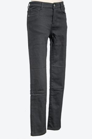 fekete elasztikus bélelt gombos nadrág