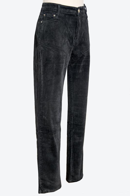 farmerszabású kord nadrág fekete