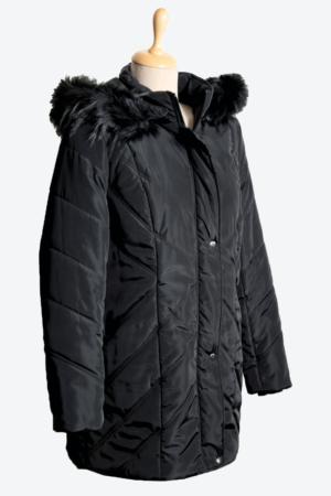 Fekete steppelt bélelt dzseki